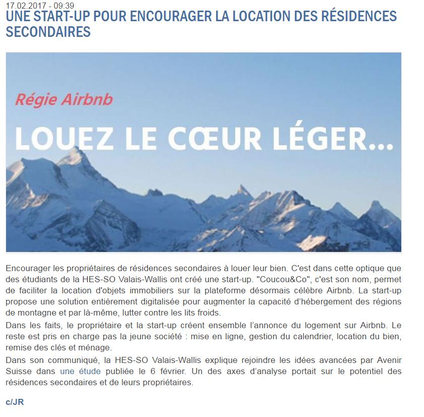 Article de Rhone FM sur Coucou&Co