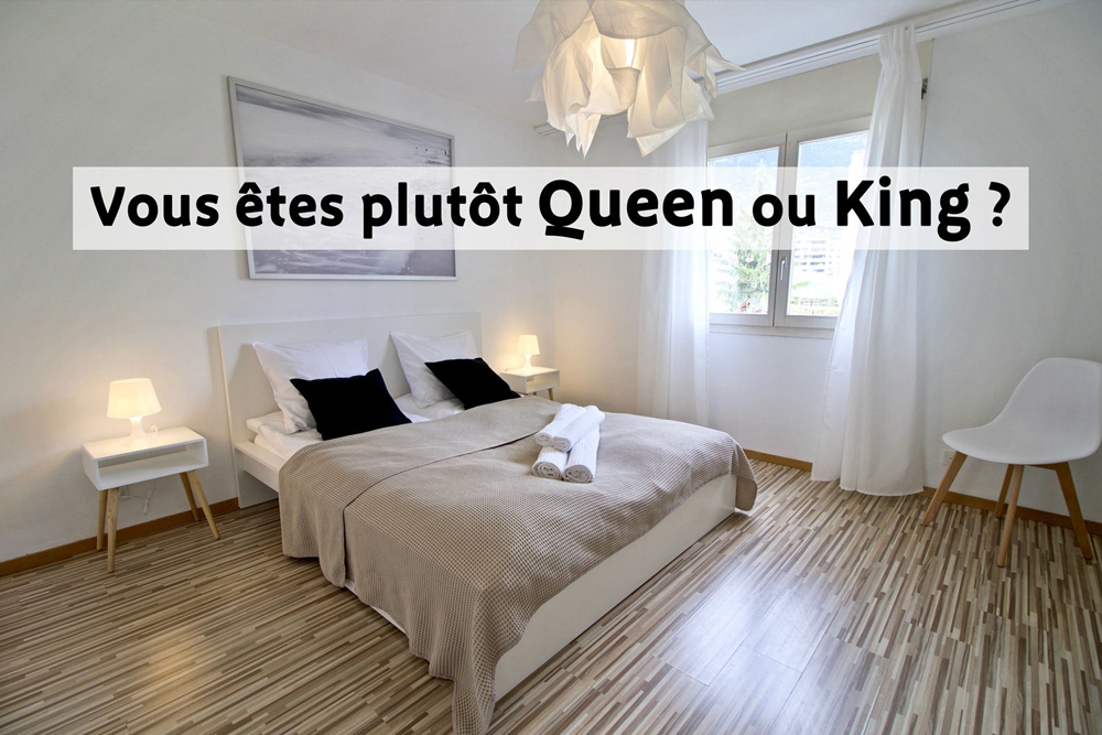 comparatif des diff rentes tailles de lits vous tes plut t queen ou king. Black Bedroom Furniture Sets. Home Design Ideas